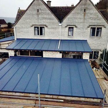 zinc flat roof